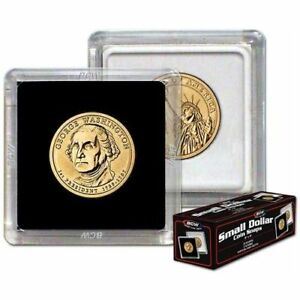 200-BCW-2-x-2-COIN-SNAPS-SACAGAWEA-PRESIDENTIAL-SMALL-DOLLAR-BLACK
