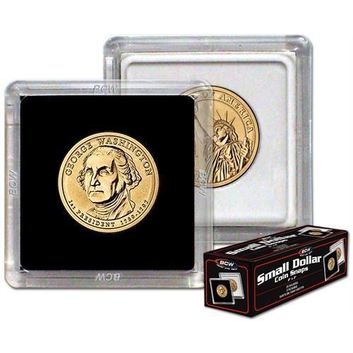 SACAGAWEA // PRESIDENTIAL // SMALL DOLLAR 10 COIN SNAPS BLACK BCW 2 x 2