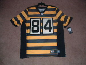 f5fa6e67c ANTONIO BROWN  84 STEELERS AUTHENTIC 3RD NIKE ELITE FOOTBALL JERSEY ...