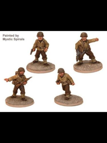 28mm Crusader Minis, US Army Command Teams, BNIB, WWII Great For Bolt Action,