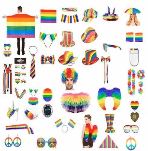 Gay Pride Fancy Dress Accessory Rainbow Hats LGBT Parade Party Accessory Lot