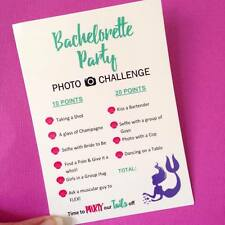 Mermaid Bachelorette Photo Challenge Scavenger Hunt Hens Hen Party Game Cards