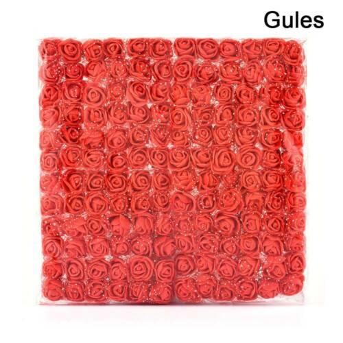 144Pcs Artificial Flowers Fake Mini Foam Roses Home Wedding Bouquet Decors US/_