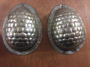 Antique Chocolate Candy Mold Germany Eppelsheimer Easter Egg Decorated Mounted