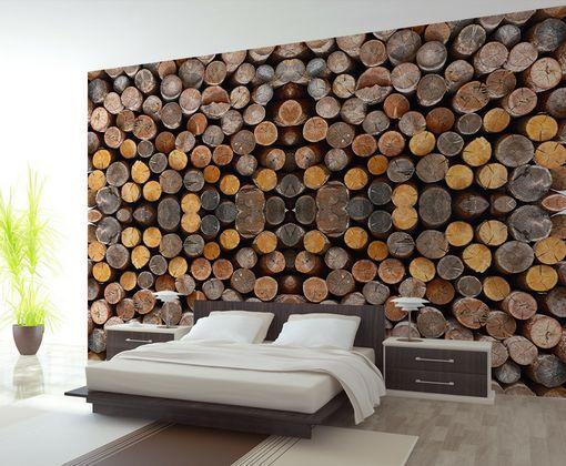 3D Holzstapel 24344 Fototapeten Wandbild Fototapete BildTapete Familie DE