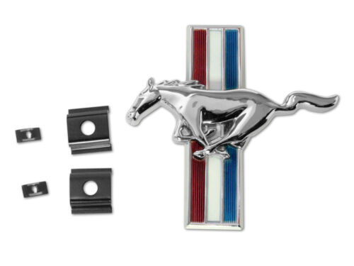 NEW 1965-1966 FORD Mustang Shelby GT-350 Front Grill Panel Emblem GT350 w// clips