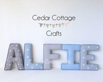 Fabric Letters Wall Art Handmade Name