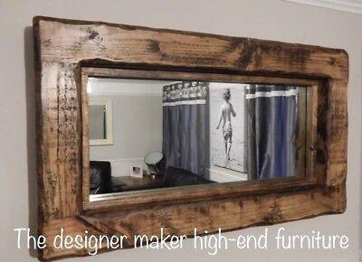 mirror rustic wooden farmhouse mirror reclaimed wood dark