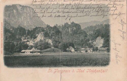 Antike Ansichtskarte Bad Reichenhall St. Pangratz Jahr 1903 beschrieben