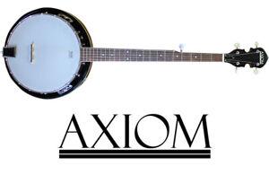 Details about Axiom Beginner Banjo - 5 String Banjo - Quality Student Banjo  - 2 Year Warranty