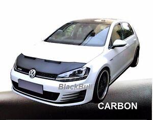 Haubenbra-fuer-VW-Golf-7-Car-Bra-Steinschlagschutz-Tuning-amp-Styling-CARBON