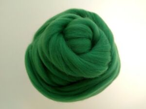 Cactus Green* 100/% Merino Wool Roving Tops for Needle and Wet Felting 50 g