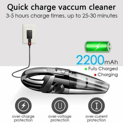 Portable Vacuum Wet Dry Cleaner Dust Buster Handheld Cordless Auto Car Home UK