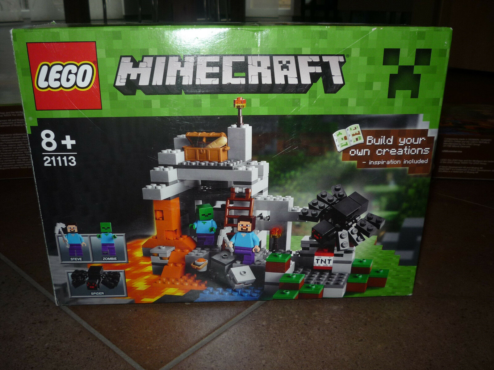 Lego Minecraft 21113 - Die Höhle The Cave komplett in OVP
