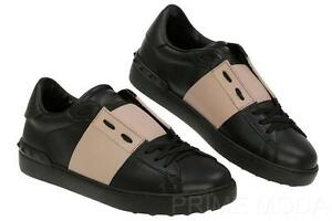 New Valentino Garavani Men S Black Mauve Rockstud Sneakers Casual