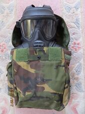 BRITISH ARMY GSR GAS MASK (SIZE 3/3), BOTH FILTERS & A GOOD S10 HAVERSACK!