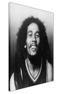 Image Is Loading BLACK AND WHITE SMILING BOB MARLEY PRINTS CANVAS
