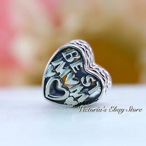Authentic PANDORA Heart Charm Best Mom Jared Exclusive 791882 eBay