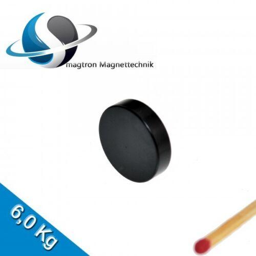 Epoxy 20 NEODYM MAGNETE Ø20x5 mm NdFeB N45 Scheibenmagnete Schwarz