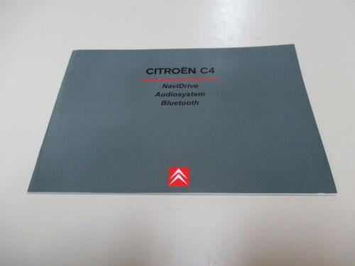 CITROEN c4 2005 Navi Radio Manuale Manuale d/'uso manuale NUOVO