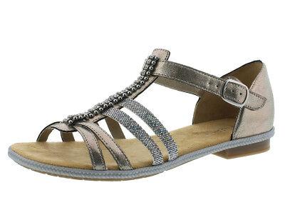 rieker damen sandale metallic 62728-90 38