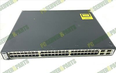 Cisco 3750 PoE Series WS-C3750-48PS-S 48-Port Fast Ethernet Switch TESTED