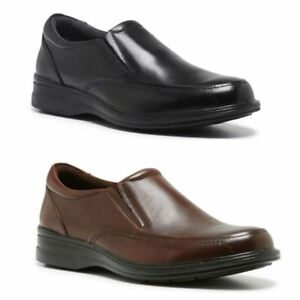 MENS-HUSH-PUPPIES-TRANSIT-EXTRA-WIDE-MEN-BLACK-BROWN-LEATHER-WORK-SLIP-ON-SHOES