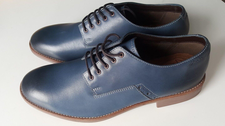 Clarks blu scarpe taglia taglia scarpe Uk11 NUOVI f37265