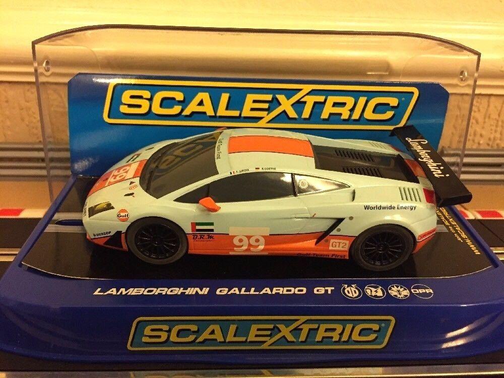 Scalextric Lamborghini Gallardo GT (C3283) Fully Serviced & New Braids Mint