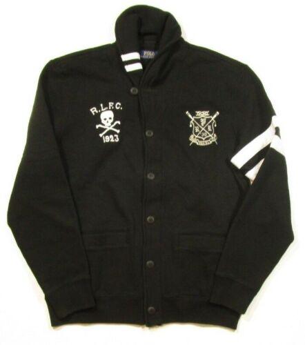 Polo sjaal Ralph sweater Heren zwarte Lauren patch fleece met DIH2YbWE9e