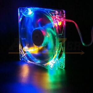 Image is loading RGB-Quad-4-LED-Light-Neon-Quite-Clear- & RGB Quad 4-LED Light Neon Quite Clear 120mm PC Computer Case ... azcodes.com