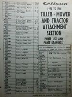 Gilson Wards Garden Tiller Mower Tractor Attachment 1957-1970 Parts Manual 44pg