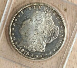 1878 S Morgan Silver Dollar Proof-like fields Beautiful Toning