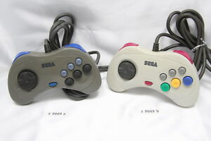 2-variations-Sega-Saturn-Controller-Pad-Gray-White-Official-Genuine-z9009