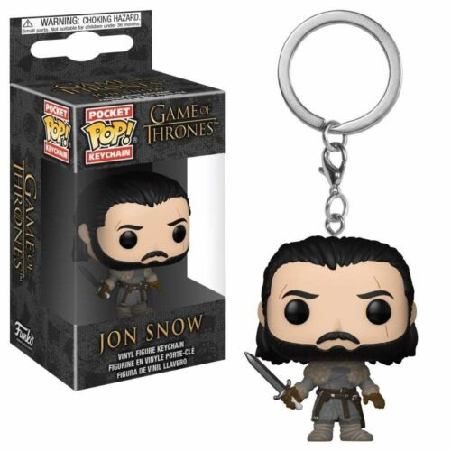 Game of Thrones Pocket Pop Funko Jon Snow Beyond the Wall Vinyl Figure Keychain