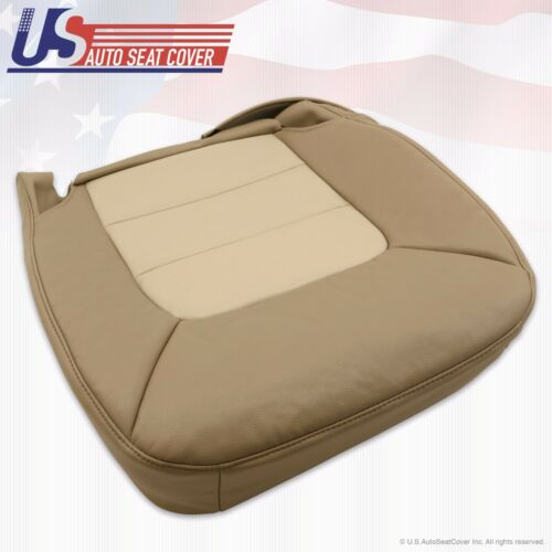 2005 2006 Expedition Eddie Bauer Passenger Bottom Leather Seat Cover 2-Tone Tan