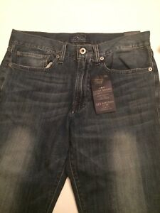 Mens-Lucky-Brand-Slim-Fit-Dark-Blue-Jeans-Size-30-x-34-NWT-Cotton-Blend