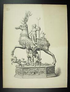 Disegno-XIX-Firmato-Charles-Goutzwiller-Automaton-Auto-di-Wenzel-Jamitzer-Xvie