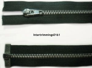 "16.5/"" OR 24/"" NO 5 ALUMINIUM TEETH IBEX ZIP HEAVY DUTY DARK NAVY OPEN END"