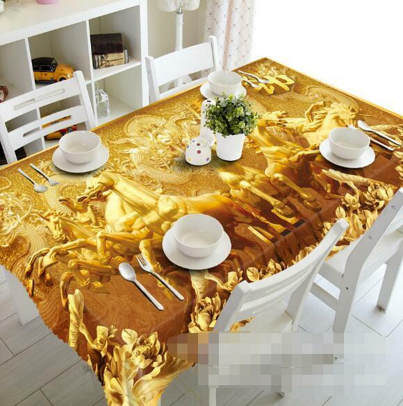 3D oren Horses Tablecloth Table Cover Cloth Birthday Party Event AJ WALLPAPER