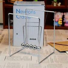 Science Pendulum Desk Newtons Cradle Steel Balance Balls Desk Physics Toy New