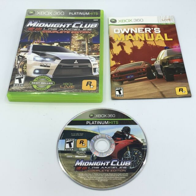 Midnight Club: Los Angeles -- Complete Edition (Microsoft Xbox 360) With Manual