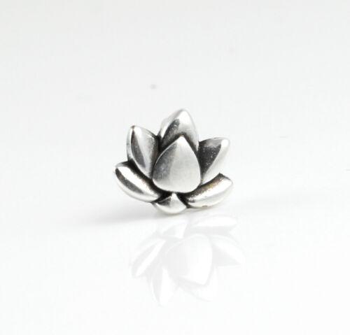 3 zamak Glissière Lotus Fleur Argenté id5 x 2 mm Bracelet Yoga Prana Bouddha