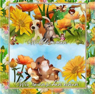 ❀AUKTIONSVORLAGE ❀ Sommer Garten ❀ Baby Kinder Reborn Template Ebay Vorlage |354