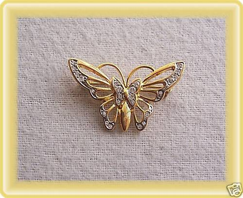 Broche mariposa nuevo nuevo con pedrería ramo pin Top