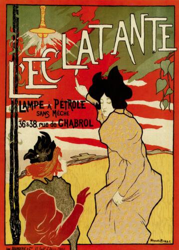3698.Kerosene lamp French Ad Poster.Art Nouveau.Decorative.Home interior design