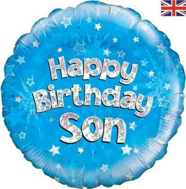 Happy Birthday Party Son Foil Holographic Balloon Balloons Air Helium 18inch For Sale Online