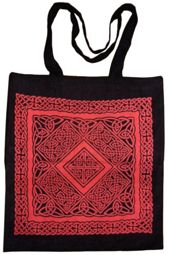 Celtic Weave Tote Bag School Office Shop 16 x 17 Red
