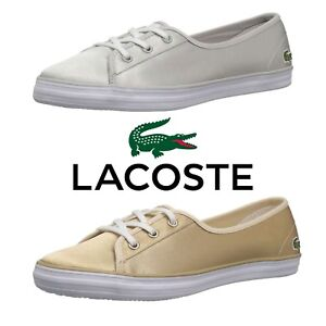 NEW-Women-039-s-Lacoste-Ziane-Chunky-Caw-Fashion-Shoes-Lace-Up-Flats