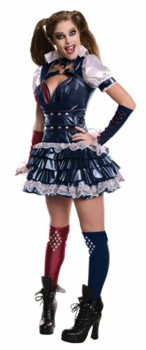 Ladies Arkham Harley Quinn Batman Superhero Villain Fancy Dress Costume Outfit
